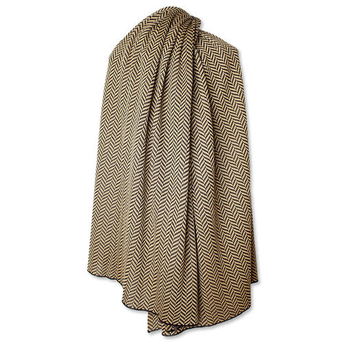 Stole Fishbone 2, black/camel