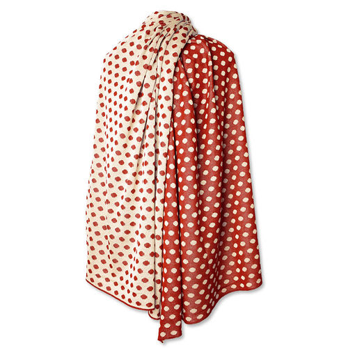 Stole Polkadots, red/white