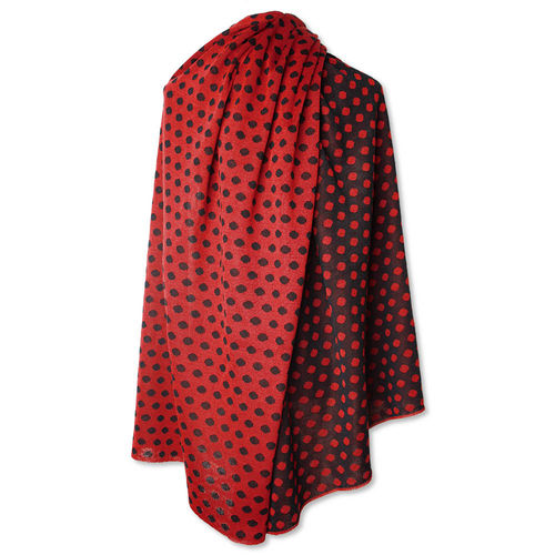 Stole Polkadots, red/black