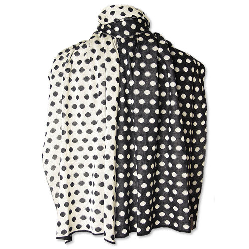 Shawl Polkadots, black/white