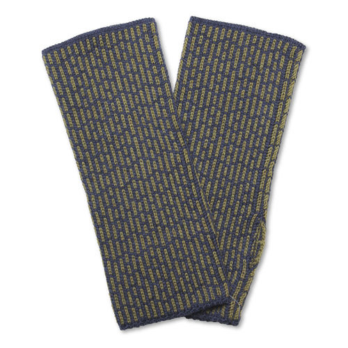 Wristwarmers (pair) Stripes 3, dark-blue/olive-green