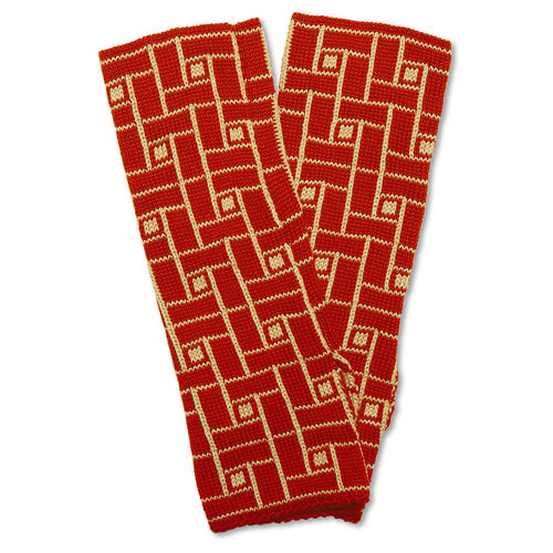Wristwarmers (pair) Jump, red/camel