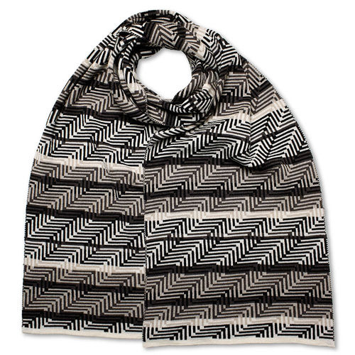 Scarf Art-Line Corner, grey/black