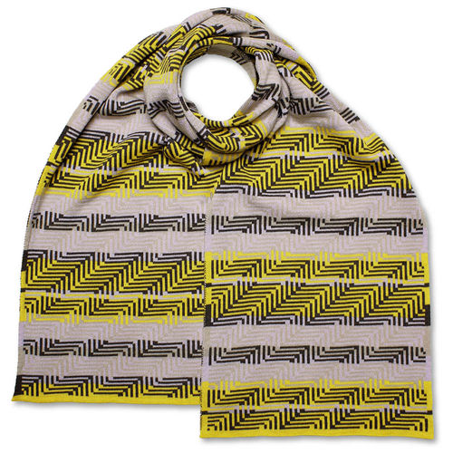 Scarf Art-Line Corner, grey/yellow