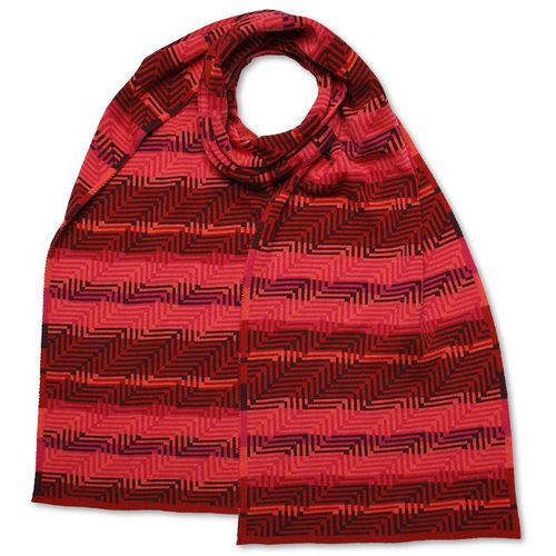 Scarf Art-Line Corner, pink/red