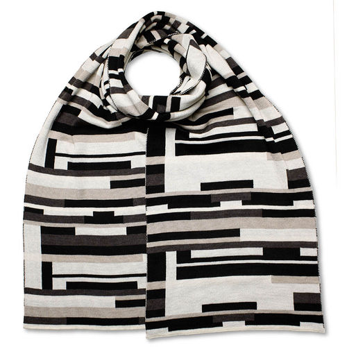 Scarf Art-Line Landscape, grey/black