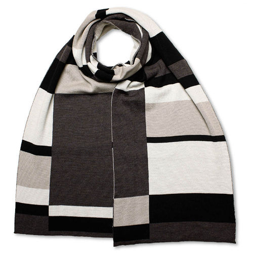 Scarf Art-Line Boxes, grey/black
