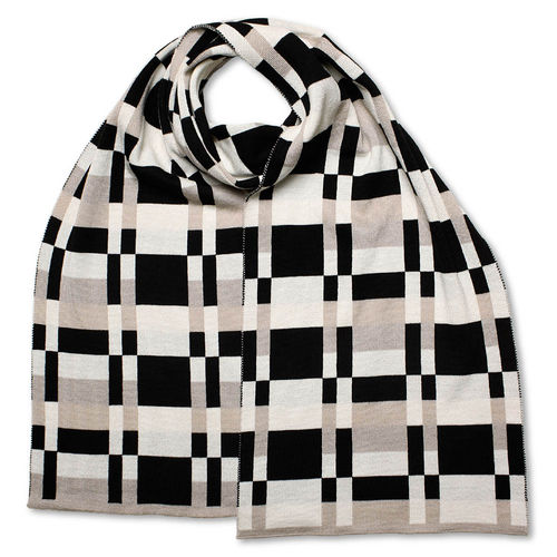 Scarf Art-Line MultiBoxes, grey/black