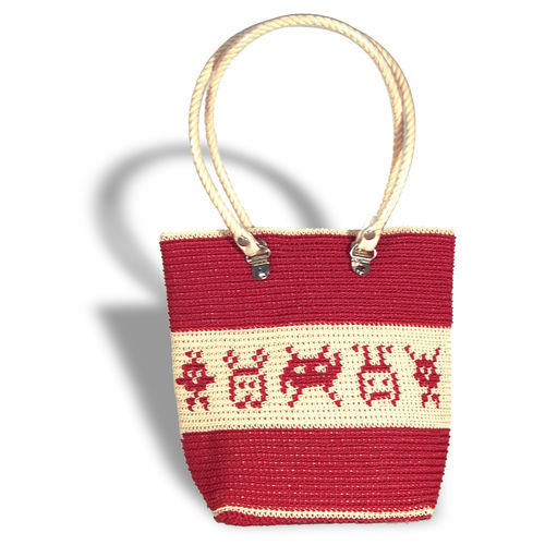 Plastetasche Invaders 4 red/beige
