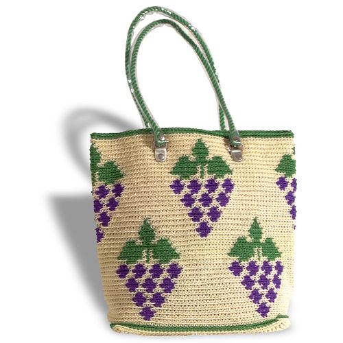 Plastetasche Grape beige/violet/green