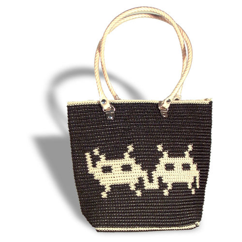 Plastetasche Invaders 2 black/beige