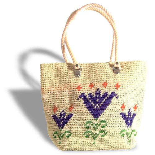 Plastetasche Lily beige/blue/green/orange