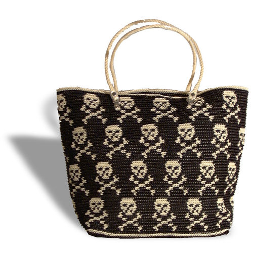 Plastetasche Pirate L black/beige
