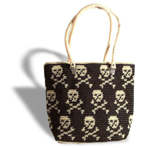 Plastetasche Pirate M black/beige