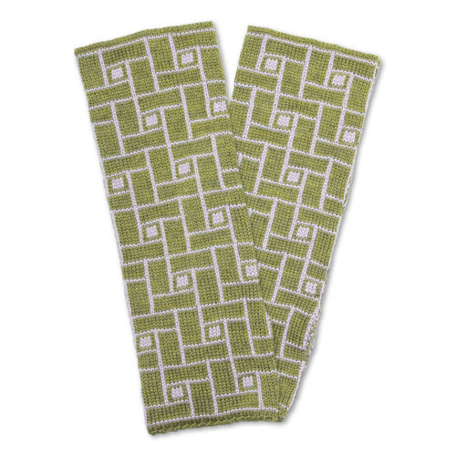 Wristwarmers (pair) Jump, olive-green/frost-rose