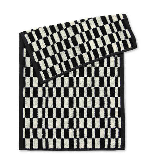 Guest towel Stripes, black/ecru