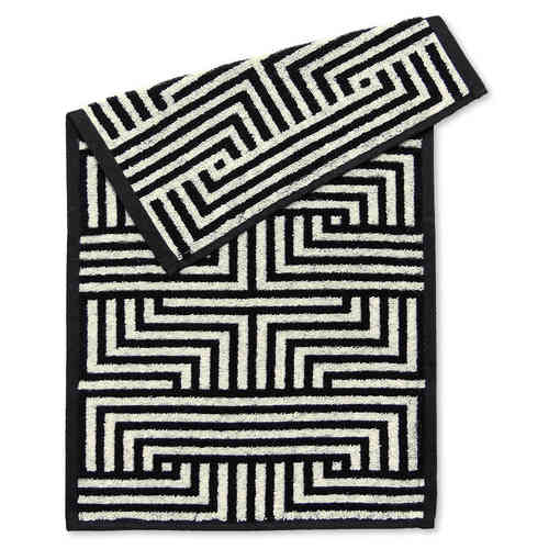 Guest towel Meander, black/ecru