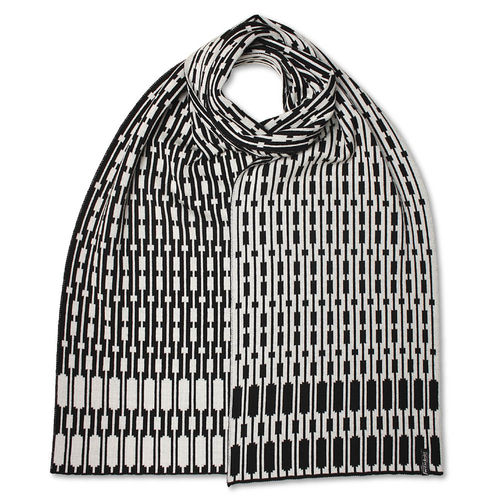 Scarf flat Trespassers 2, black/white