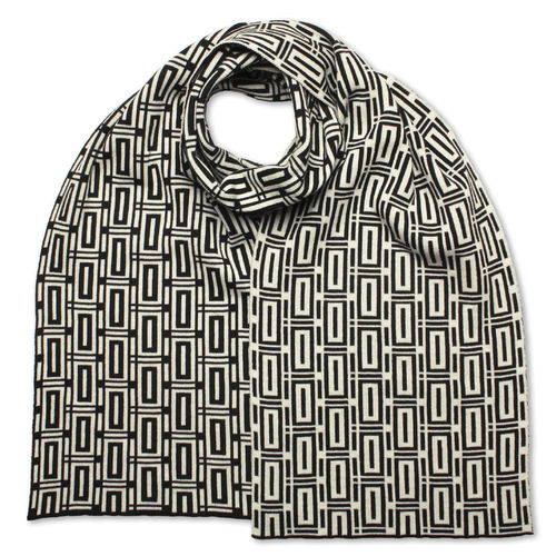 Scarf flat Bricks 2, black/white